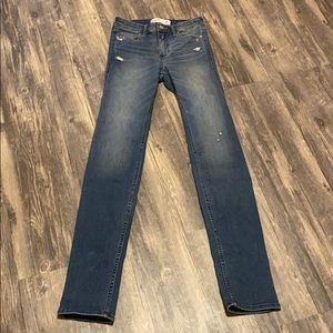 Abercrombie&Fitch straight leg jeans. Size 2Long.